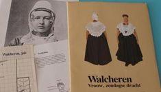 Patroon Walcheren zondagse klederdracht van het Openluchtmuseum Arnhem uit de jaren tachtig van de vorige eeuw.