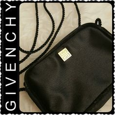 Givenchy Mini Crossbody Bag Givenchy Designer Bag, Classic Black with Gold Logo Hardware, Zipper Closure  Approx Size 5.5 x 3.5 x 1 inches, Worn but Still Lots of Life Left Givenchy Bags Crossbody Bags