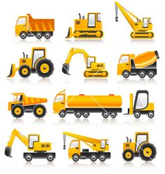 Free construction vehicles vector collection illustration in encapsulated postscript . Clipart, Construction Birthday, Construction Cookies, Construction Games, Icon Collection, Free Vector Graphics, Car Vector, Vector Free Download, Vector Art