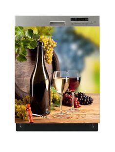 Naklejka na zmywarkę - Białe wino 6517