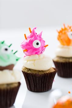 Truffle Monster Cupcakes - Halloween Idea #baking #cooking #food #recipes #cake #desserts #win #cookies #recipe #cakes #cupcakes
