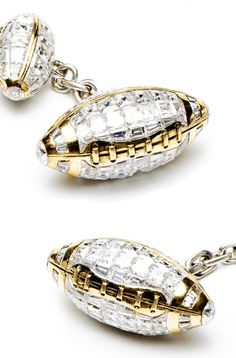 Most Expensive Cufflinks in the World  TOP 10 N6. Jacob & Co. Baguette Diamond Double Ended Football Cufflinks $96,000 [source: cufflinks]