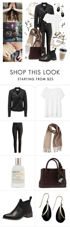 """""""Love Story - The Girl"""" by lysianna ❤ liked on Polyvore featuring Gap, Overland Sheepskin Co., Le Labo, OUTRAGE and Pavilion Broadway"""