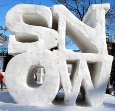 made with snow