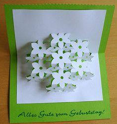 Popup Karte Blumen DIY