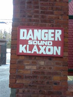 If you do not know what a klaxon is, just think of those old war movies where a submarine is diving and the sound you hear is AAAHH--OOGA....AAAHH-OOGA.  Klaxons were installed on cars to warn people of their approach-similar to horns today. This was to warn folks at the Edison site that a car was approaching Alva Edison, Horns, Diving, War, People, Movies, Horn, Scuba Diving, Films