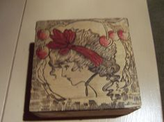 Gibson Girl Flemish Pyrography Box Wizard by doyourememberwhen, $35.00