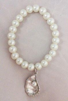 214298 Oyster Single-Strand Pearl Bracelet