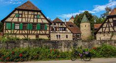 Cycling back in history (Monastery Bebenhausen, Germany) - null
