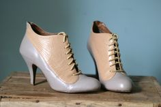 Vintage Victorian Style Ankle Boots Brogue by VioletsAtticVintage, £35.00