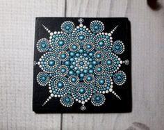 ORIGINAL.Painting Mandala original size 20x20cm by AnnaSmirnova74