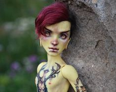 OOAK Monster High doll repaint Heath Burns nude doll