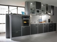 dark grey kitchen melamine