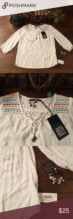 NWT ❤️ In the Wind Blouse ❤️ NWT ❤️ Stitch Blouse - ❤️ the embroidery Love Stitch Tops Blouses