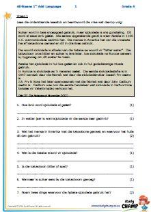 ... Afrikaans Graad 1 tot 6 on Pinterest | Afrikaans, Worksheets and