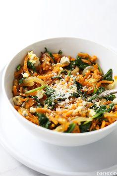 Diner met spinazie