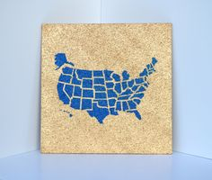 USA Cork Map Not All Who Wander Are Lost Pinnable Corkboard Of - Us travel map on cork board
