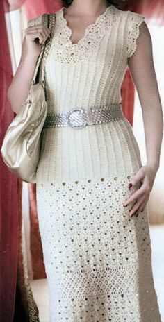 Elegant Crocheted Straight Dress Made to by HeirloomsbyAntonia Crochet Wedding Dresses, Lace Back Dresses, Crochet Summer Dresses, Summer Dress Patterns, Crochet Lace Dress, Warm Dresses, Elegant Dresses For Women, Straight Dress, Crochet Woman