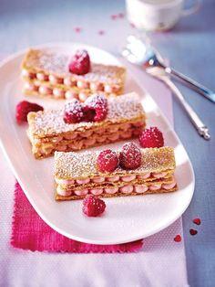Le mille-feuilles aux framboises : un dessert gourmand et délicat.