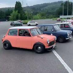 Pick One. - My best old cars list Austin Mini, Austin Cars, My Dream Car, Dream Cars, Classic Mini, Classic Cars, Mini Car, Mini Copper, Morris Minor