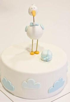 Lovely simple baby/christening cake