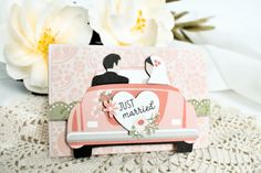 """Wedding Pop-Up Gift Cards by Michelle Zerull featuring """"Our Wedding"""" collection by #EchoParkPaper Wedding Cards, Our Wedding, Project Steps, Echo Park Paper, White Gel Pen, Gel Pens, Just Married, Memorable Gifts, Journal Cards"""