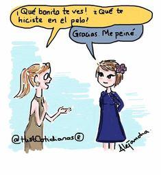 """281 Me gusta, 11 comentarios - Historias Cotidianas (@histcotidianas) en Instagram: """"¡Qué #bonita te ves! #peinarse #despeinada #siempre #comics #viñeta #ilustracion #illustration…"""""""