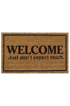 Don't Expect Much PVC Back Coir Doormat in Brown Front Door Mats, Front Door Decor, Front Porch, Cute Door Mats, Porch Mat, Funny Doormats, Coir Doormat, Welcome Mats, Floor Mats