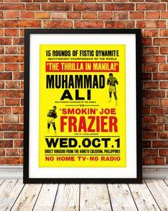 Muhammad Ali poster print Muhammad Ali Thrilla in by TheIndoorType