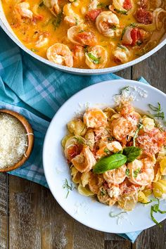 Shrimp simmer in a roasted tomato sauce with garlic and creamy goat cheese. This recipe is perfect for a fancy dinner or easy to make for a weeknight supper. It gets rave reviews! #shrimptomatosauce #shrimpgoatcheese #shrimprecipe #dinnerideas Dinner Party Recipes, Healthy Dinner Recipes, Appetizer Recipes, Dinner Ideas, Appetizers, Roasted Tomato Sauce, Roasted Tomatoes, Restaurant Recipes, Seafood Recipes