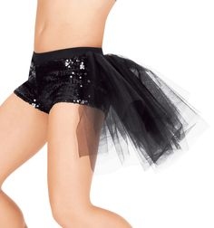 Everybody loves a good bustle short, amp up the glamour with sequins!