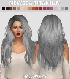 Newsea Titanium hair recolors at Hallow Sims via Sims 4 Updates  Check more at http://sims4updates.net/hairstyles/newsea-titanium-hair-recolors-at-hallow-sims/
