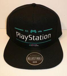 1a8df8e0e38 Black Playstation Snapback Hat Cap Sony Video Game System Bioworld Official  PS1  Bioworld  SnapbackBaseballCap