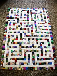 Quilt top is a real maze for toys