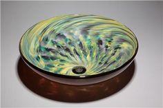 Parisian Glass Vessel Sink, $1195 on www.artisancraftedlighting.com