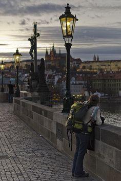 Lonely tourist in Prague   by J_CubiC_Z    i miss Prauge :(