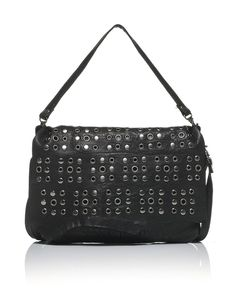 STEAL STUDDED CROSS BODY BAG - JET BLACK - New In - Womens - £80