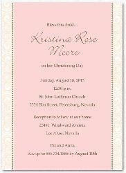 Baptism Invitation for Girls Pink Geneva Card 1873p