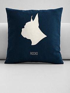 personalized pet portrait throw pillow cover - $36.00, via RedEnvelope.com