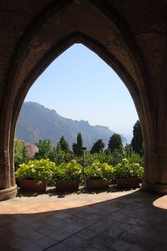 Landscape through an arch