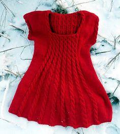 Ravelry: Lankakomero's Punainen tunika #knit #free_pattern in Finnish