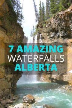 7 Beautiful Waterfalls you can hike to in Alberta Canada Alberta Canada, Jasper Alberta, Banff Canada, Banff Alberta, Canada Eh, Canadian Travel, Canadian Rockies, Cool Places To Visit, Places To Travel