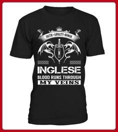 INGLESE Blood Runs Through My Veins - Shirts für singles (*Partner-Link)