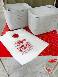 Custom BBQ and Crawfish Boil Bibs personalized for any occasion from Sip Hip Hooray! ANY DESIGN!! ANY PERSONALIZATIONS!! ANY EVENT!!  With our large selection of custom designs and ink colors your options are endless!  Don't see what you are looking for? We LOVE Custom Orders! Bibs can be personalized for your event with colors, name, date and state changes available, making them the perfect addition to your big day!! Message me with your ideas and we can create something tailored just for…