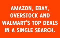 Comparizoom is great reason number 5 on Monday, August 18, 2014 --- AMAZON, EBAY, OVERSTOCK AND WALMART'S TOP DEALS IN A SINGLE SEARCH