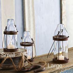 Recycled beer bottle lanterns / Aha Modern Living - $27