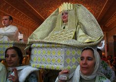 """Moroccan Wedding-The most traditional of the bride's dresses is known as the """"Fassia"""""""