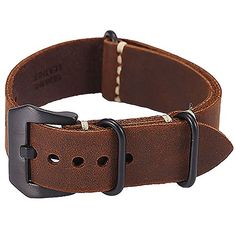 Carty Replacement Watch Band Strap Vintage Handmade Crazy Horse Leather Zulu Nato 24mm Dark Brown #Carty #Replacement #Watch #Band #Strap #Vintage #Handmade #Crazy #Horse #Leather #Zulu #Nato #Dark #Brown