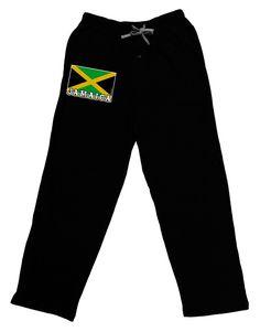Jamaica Flag Dark Adult Lounge Pants