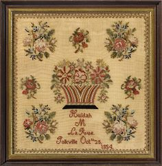 19th Century European Sampler Dated 1854